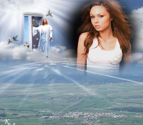 fotomontajes cristianos de jesus en el cielo