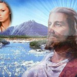 Fotomontaje hermoso con Jesús