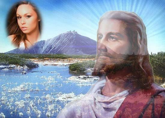 fotomontaje hermoso con jesus