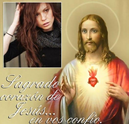 fotomontajes del sagrado corazon de jesus