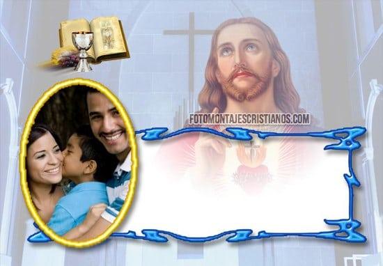 fotomontaje de comunion con jesus