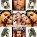 Marco de fotos junto a Jesús y la Virgen María