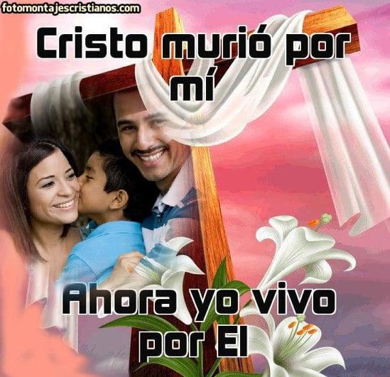 fotomontajes cristianos de cristo