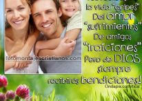 Fotomontajes cristianos con frases sobre la bendición de Dios