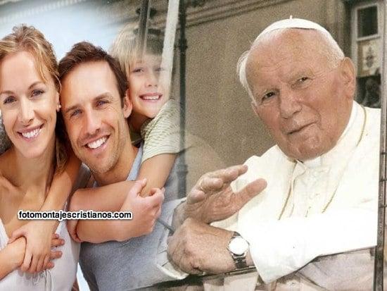 fotomontajes junto a Juan pablo II