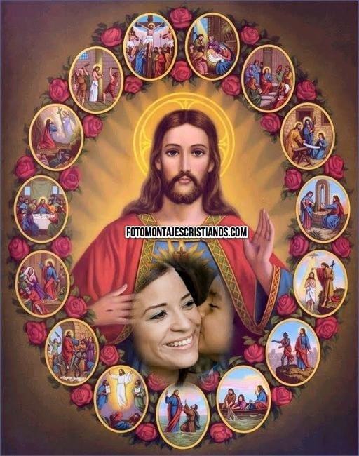fotomontaje cristiano con jesus