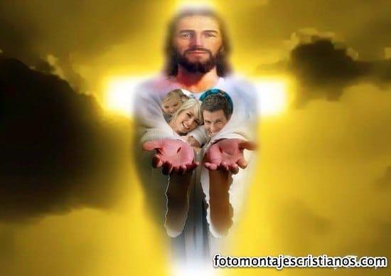fotomontaje cristiano de jesus