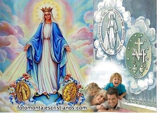 fotomontaje cristiano de la virgen