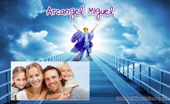 fotomontajes con el arcangel miguel