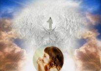 Fotomontajes de Jesús con sus ángeles en el Cielo