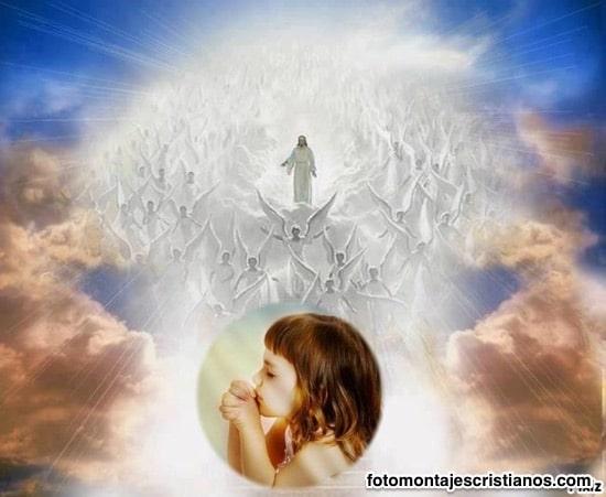 jesus en el cielo con angeles