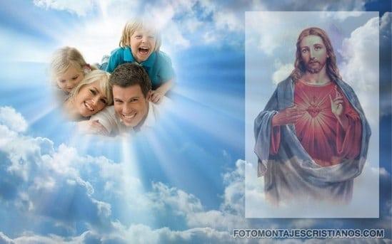 fotomontajes con jesus en el cielo
