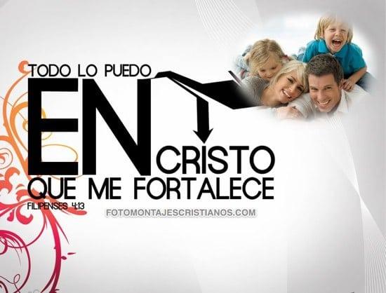 fotomontajes cristianos cristo me fortalece