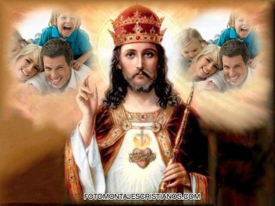 fotomontajes de jesus para dos fotos