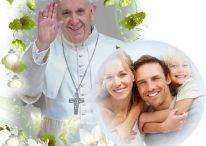 Fotomontajes del Papa Francisco con flores