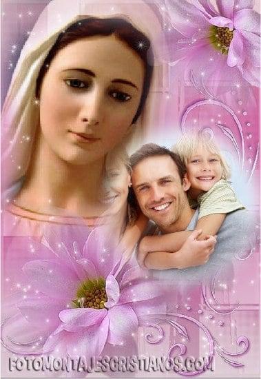 fotomontajes religiosos de la virgen maria