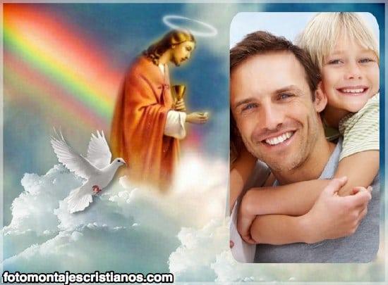 Fotomontaje con Jesús en el cielo | Fotomontajes Cristianos