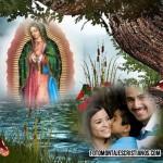 Fotomontaje hermoso con la Vírgen de Guadalupe
