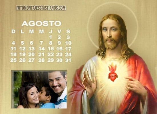 fotomontajes cristianos con jesus calendario agosto 2013
