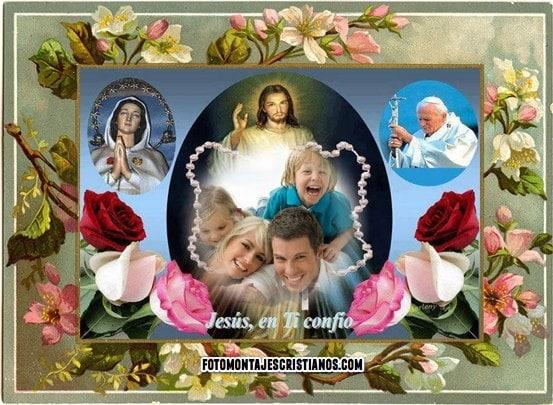 fotomontajes cristianos con jesus y flores