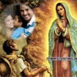 Hermoso fotomontaje con la Vírgen de Guadalupe