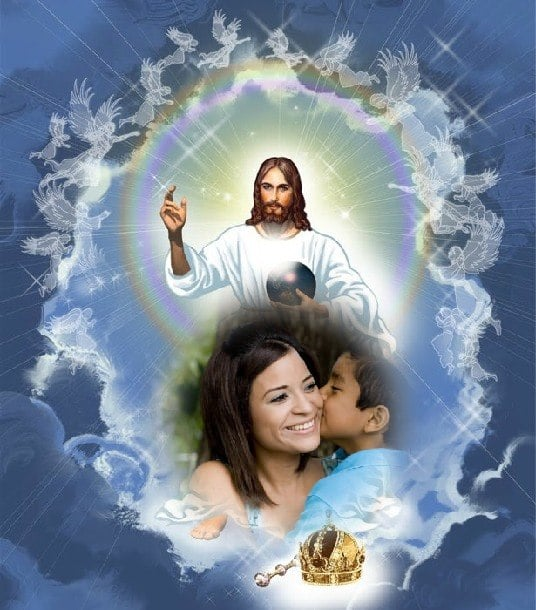 fotomontajes de jesus en el cielo