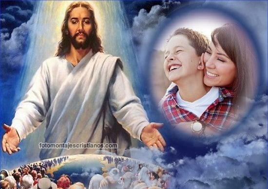 marcos de fotos con jesucristo Fotomontajes Cristianos