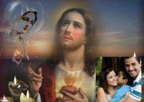 Fotomontaje con la imagen del Sagrado Corazón
