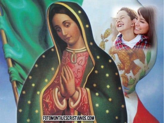 fotomontajes con la virgen de guadalupe