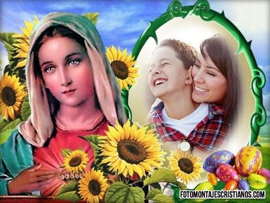 fotomontajes cristianos de la virgen