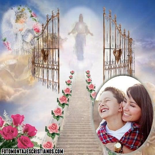 fotomontajes cristianos en el cielo