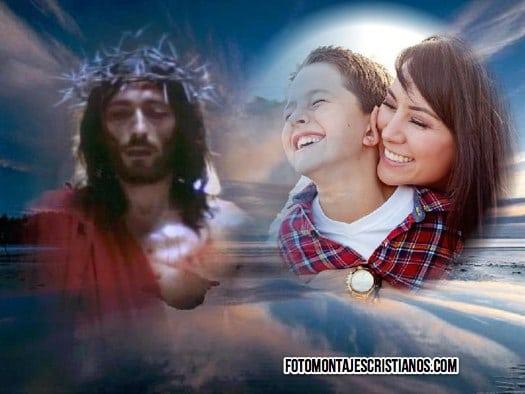 Fotomontajes religiosos de Jesús