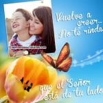 Fotomontajes cristianos con frases: El Señor está de tu lado