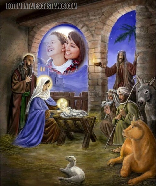 fotomontajes cristianos de navidad