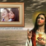 Hermoso fotomontaje cristiano con Jesús
