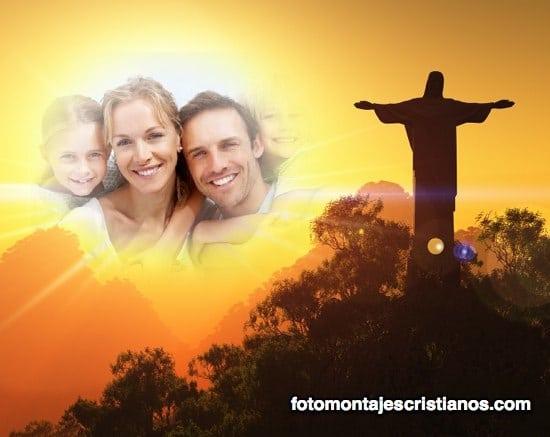 fotomontaje cristiano de paisaje