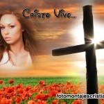 Fotomontaje cristiano: Cristo vive