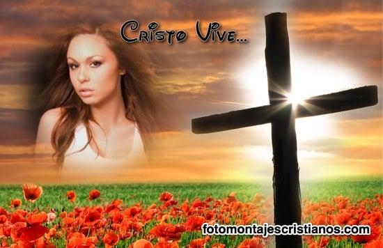 fotomontajes cristianos cristo vive
