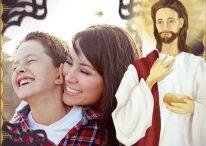 Hermoso fotomontaje para poner tu foto al lado de Jesús