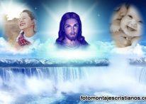 Fotomontaje con Jesús para dos fotografías