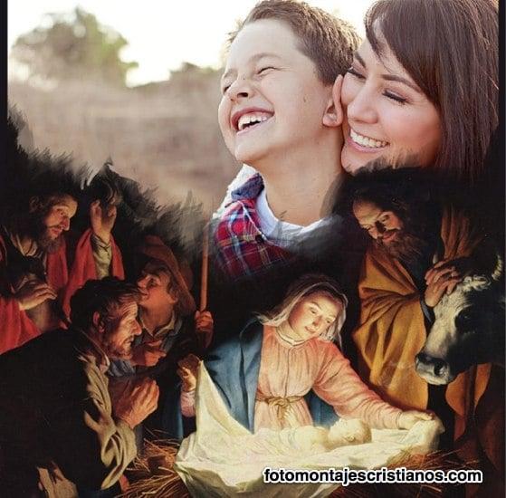 fotomontajes de navidad nacimiento del niño jesús