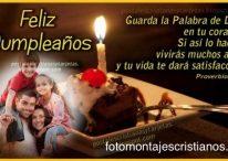 Fotomontaje cristiano de cumpleaños con hermoso mensaje