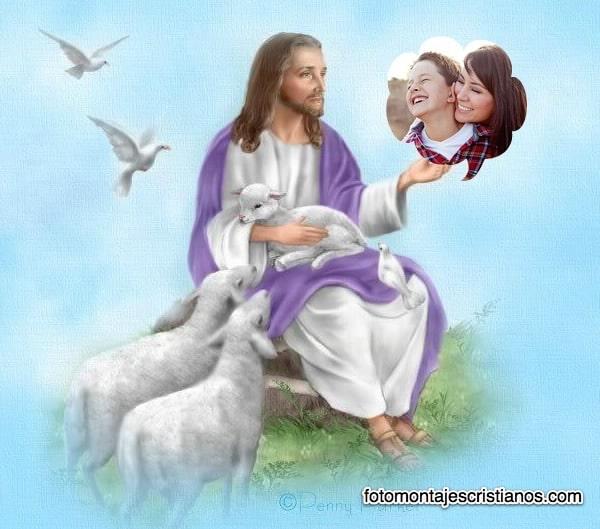 fotomontaje jesus