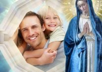 Fotomontaje para ser bendecidos por la Virgen María