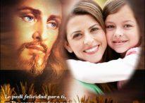 Fotomontaje para poner tu foto al lado de Jesús con frase de bendiciones