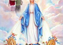 Fotomontaje de la Virgen de la Medalla Milagrosa