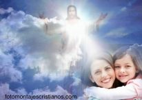 Fotomontaje cristiano de Jesús envuélveme en tu luz