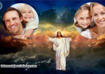 Fotomontaje con Jesucristo para 2 fotografías